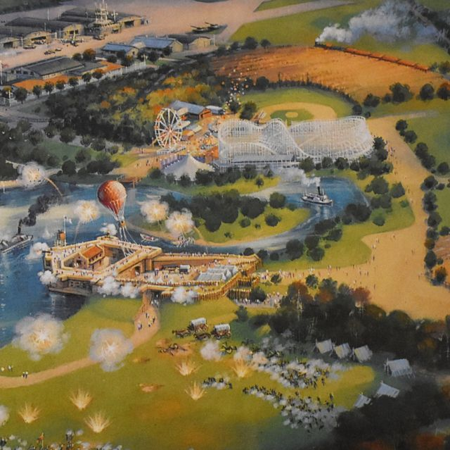 Aerial photography, Bird's-eye view, Natural landscape, Urban design, Metropolitan area, Residential area, Landscape, Suburb, Photography, Amusement park,