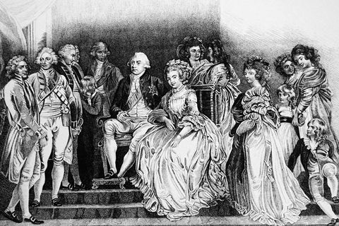 king george iii with his consort charlotte sophia and their family