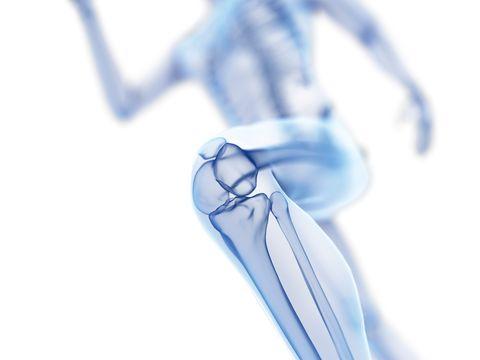 Illustratie van de knie van een hardloper