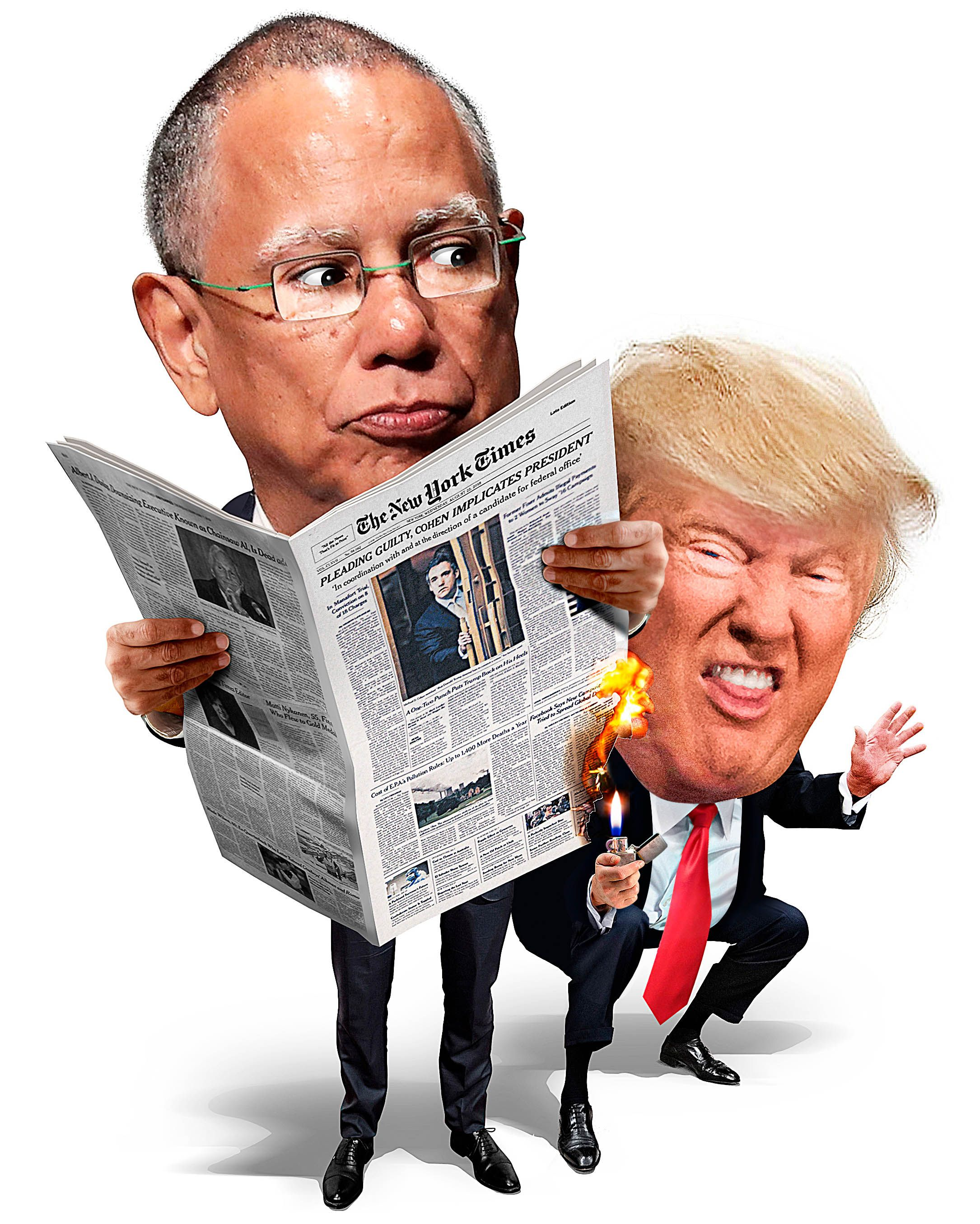 New York Times executive editor Dean Baquet and an unaverage reader.