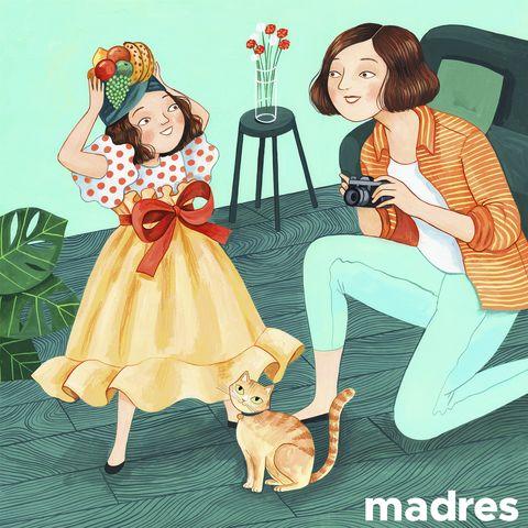 la ilustración de helena pérez por el día de la madre, publicada en el instagram de elle