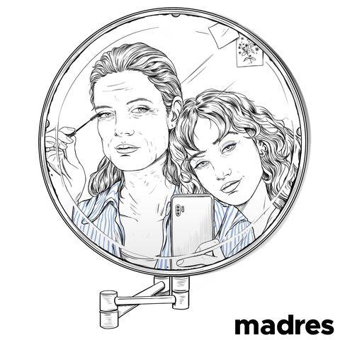 la ilustración de sara herranz por el día de la madre, publicada en el instagram de elle