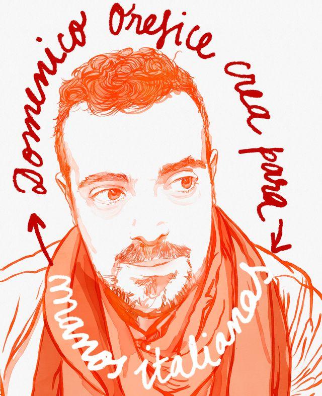 el diseñador domenico orefice ilustrado por gala fernández