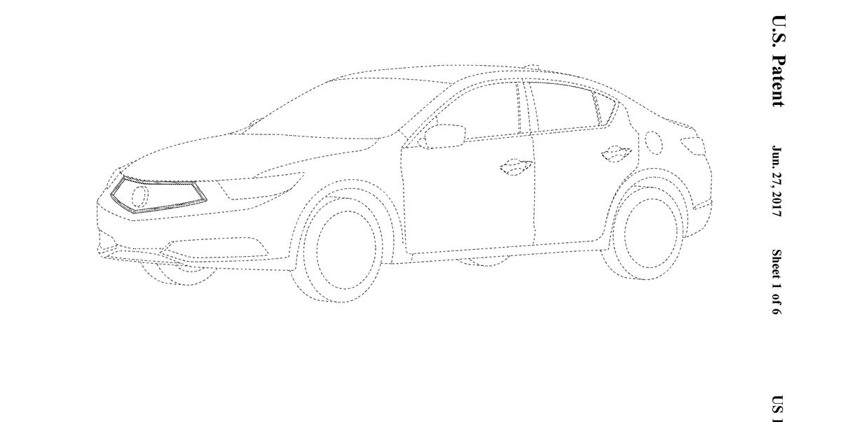 2019 Acura ILX's New Face Revealed via Patent Images
