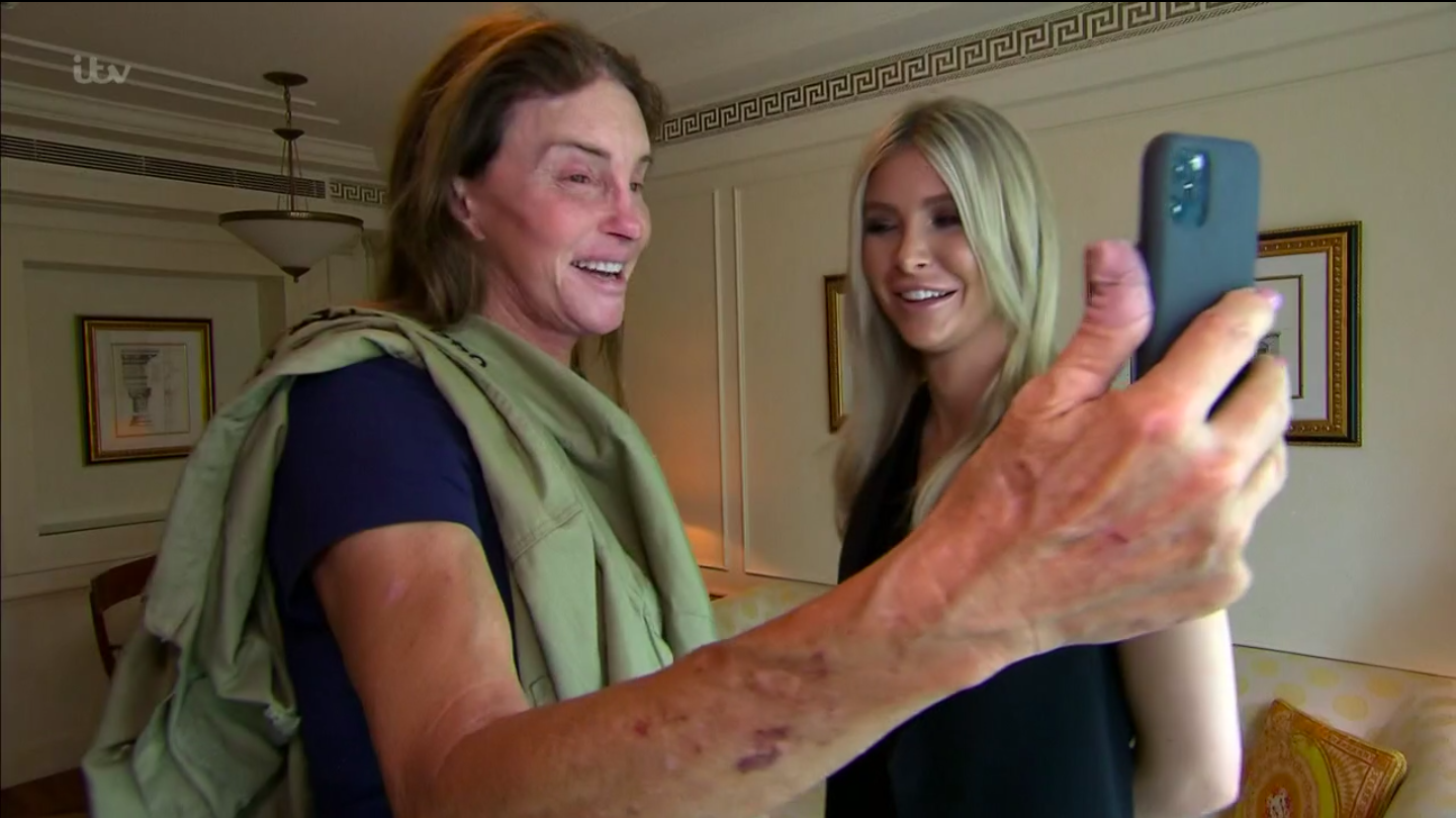 I'm a Celebrity's Caitlyn Jenner is surprised by daughter Kendall during Coming Out show