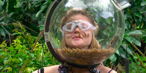 Emily Atack in I'm A Celebrity final Bushtucker Trial