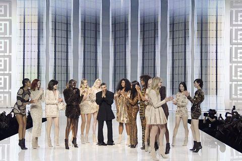 balmain runway spring summer 2022 paris fashion week