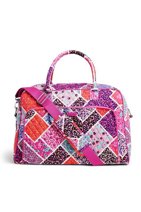 Handbag, Bag, Pink, Fashion accessory, Magenta, Shoulder bag, Beauty, Violet, Hand luggage, Pattern,