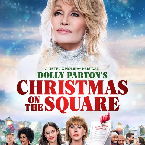 dolly parton's christmas on the square 2020 movie poster