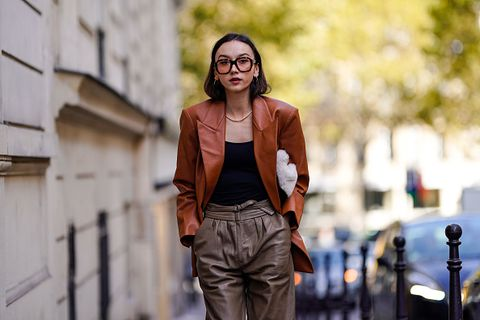 Street fashion, Photograph, Fashion, Beauty, Eyewear, Glasses, Human, Photography, Outerwear, Jacket,