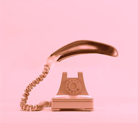 Telephone, Copper, Metal, Illustration,
