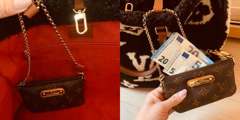 Bag, Handbag, Leather, Brown, Fashion accessory, Material property, Everyday carry, Wallet, Coin purse, Luggage and bags,