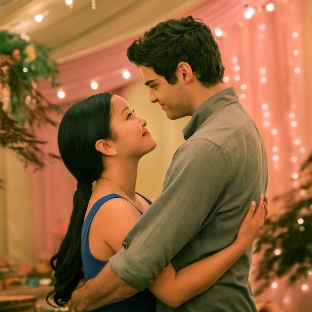 to all the boys always and forever l r lana condor as lara jean, noah centineo as peter katie yunetflix© 2021