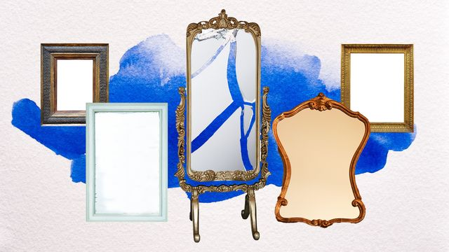 illustration of various mirrors