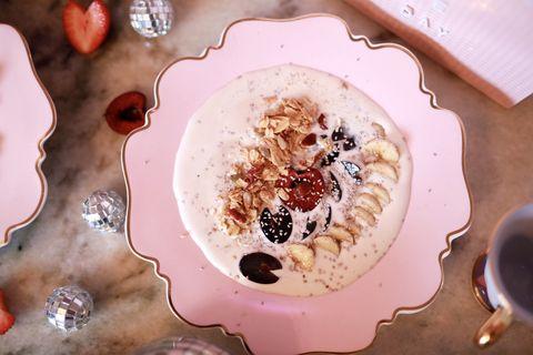 Food, Dish, Cuisine, Ingredient, Dessert, Breakfast, Pudding, Cream, Baked alaska, Porridge,