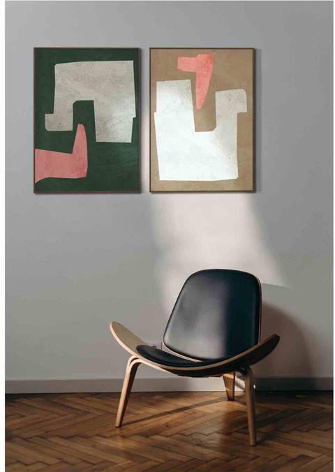 framed art work in room