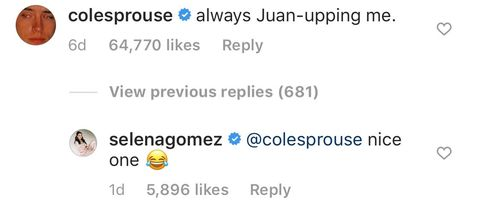 Selena Gomez Finally Responds to Cole Sprouse After He Commented On Being Her Childhood Crush