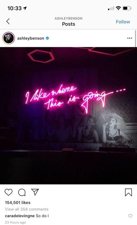 Cara Delevingne is Flirting with Ashley Benson on Instagram Again