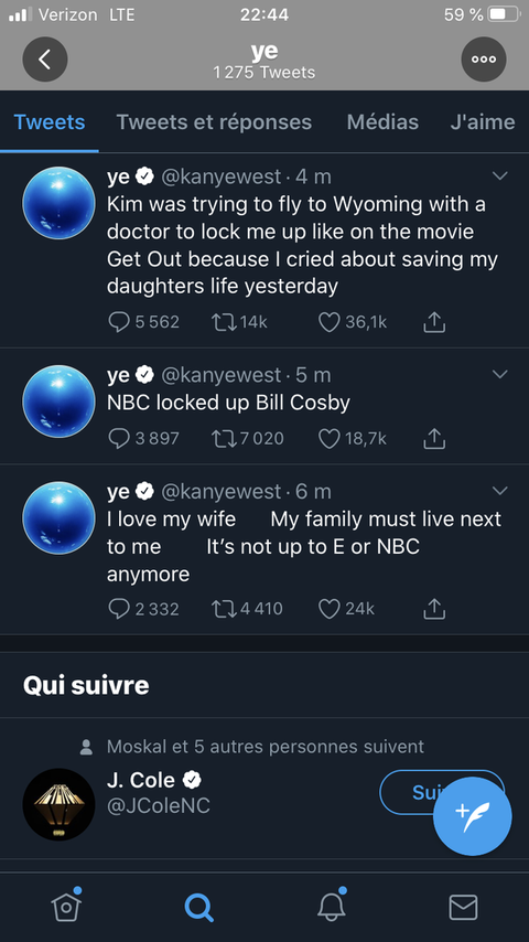 kanye west's tweets before they were deleted