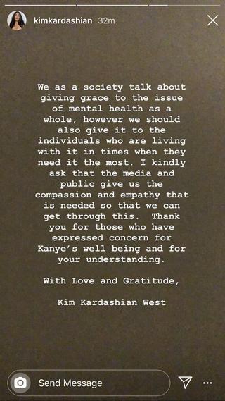 kim's statement