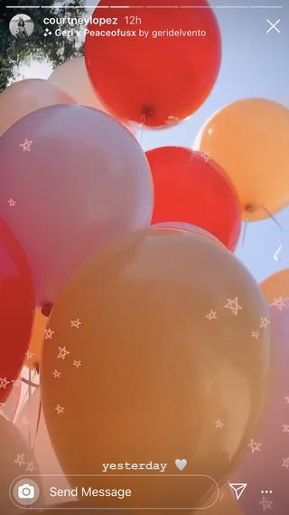 selena's birthday balloons