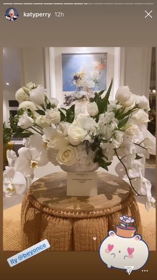 beyoncé's flowers to katy perry