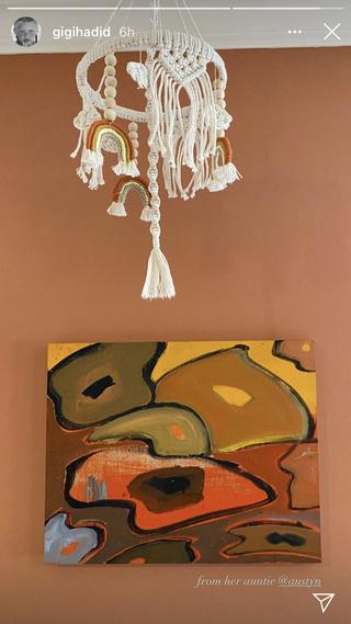 gigi hadid's baby's room
