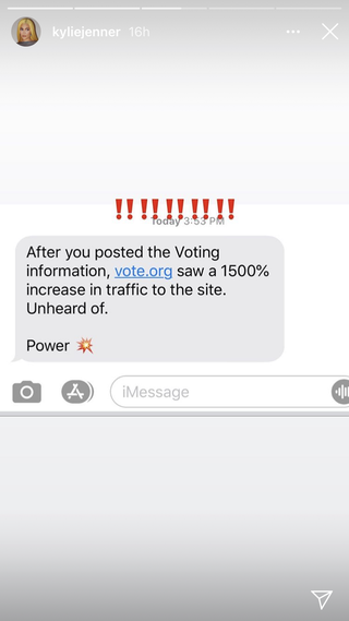 kylie's voteorg stats text