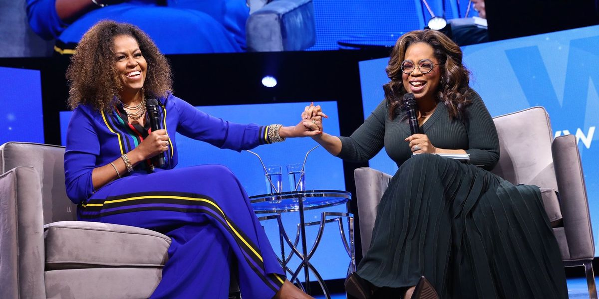 """Michelle Obama Jokes With Oprah That Barack Obama Had a """"Loud, Ugly Cry"""" at Malia's Graduation"""