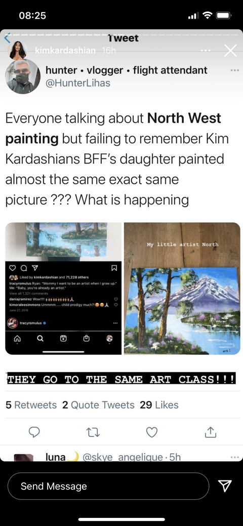 Kim Kardashian Mounted an All-Out Defense of North After Skeptics Questioned Her Painting