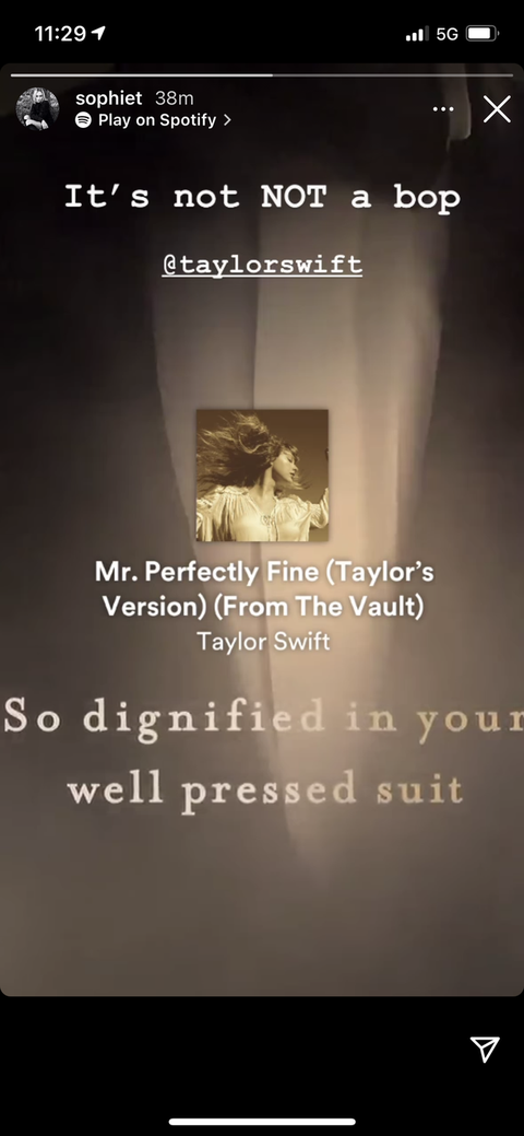 sophie turner's reaction to taylor swift's joe jonas song
