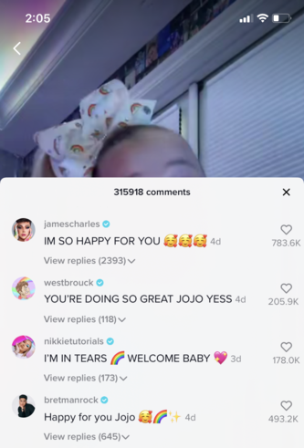 celebrity support for jojo siwa coming out