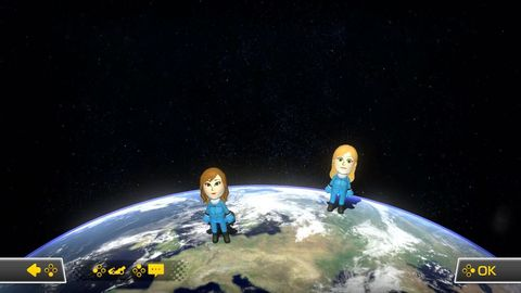 brie larson's mii alongside mine when first selecting our race course in mario kart