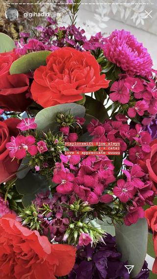 gigi's flowers from taylor swift and joe alwyn