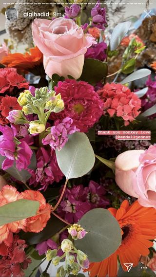 gigi's flowers from kendall jenner