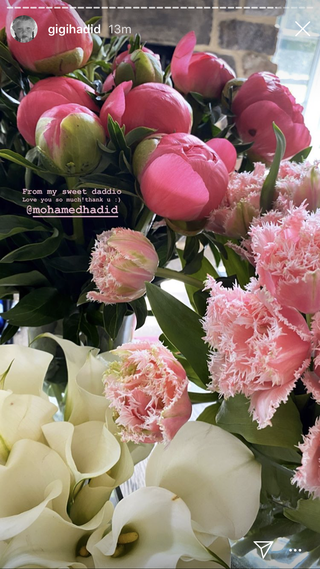 flowers and gifts from gigi hadid's friends
