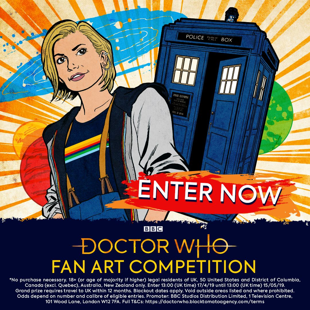 Doctor Who fans can win amazing prizes by designing artwork for an official T-shirt