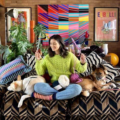 jasmine hemsley encourages the nation to knit to boost positive mental health