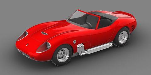 Land vehicle, Vehicle, Car, Sports car, Race car, Coupé, Classic car, Ferrari 250 gto, Ferrari 275, Model car,