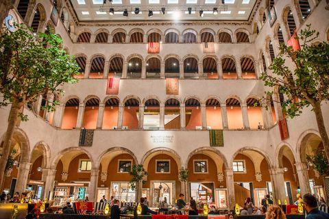 Arcade, Arch, Hall, Column, Plaza,