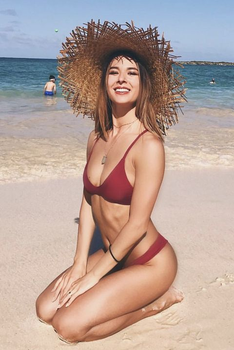 People on beach, Bikini, Clothing, Swimwear, Beach, Beauty, Vacation, Summer, Skin, Swimsuit top,