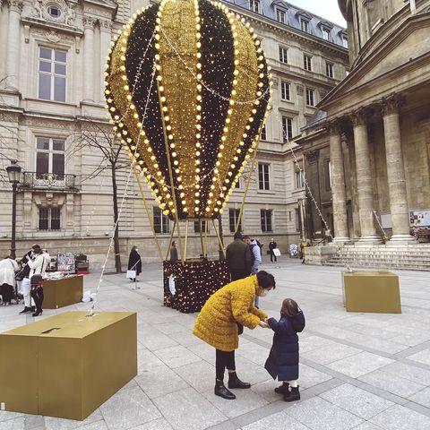 サントノレ通りの気球