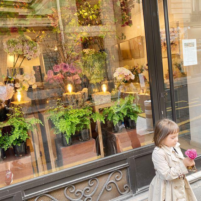 トレンチコートを着て、大好きなお花屋さんjardin de i'llonyへお出かけ
