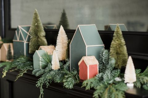 Joanna Gaines's DIY Christmas Village Templates Are The Easiest (And Cutest) Way To Decorate Your Mantel