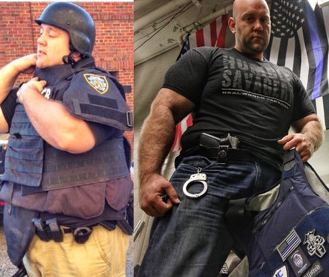 Police, Police officer, Muscle, Law enforcement, Security, T-shirt, Tattoo, Swat, Official,
