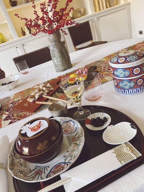 和食器と水引の祝箸