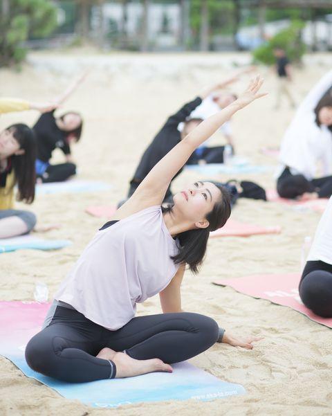 Physical fitness, Yoga, Pilates, Stretching, Sitting, Exercise, Leisure,