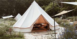 Bell tent opCamping Buitenland