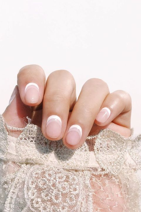 Best White Nail Designs - Reverse White French Manicure