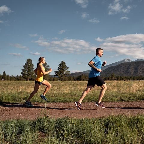 Running, People in nature, Outdoor recreation, Sky, Recreation, Jogging, Long-distance running, Exercise, Athlete, Cross country running,